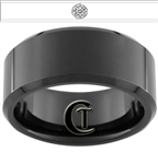 10mm Black Beveled Tungsten Carbide Custom Full-Metal Alchemist Design