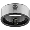 10mm Black Beveled Tungsten Carbide Stone Finish Soul Eater Design