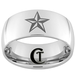 10mm Dome Tungsten Carbide Nautical Design