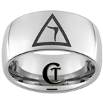 10mm Dome Tungsten Carbide Masonic Yod Design