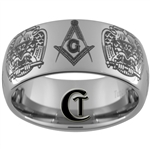 10mm Dome Tungsten Carbide Masonic 32nd Degree Design