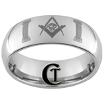 10mm Dome Tungsten Carbide Masonic Pillars Design