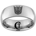 10mm Dome Tungsten Carbide Decepticon Design