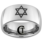 10mm Dome Tungsten Carbide Jewish Design