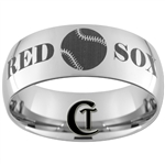 10mm Dome Tungsten Carbide Red Sox Design
