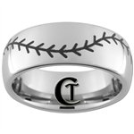 10mm Dome Tungsten Carbide Baseball Stich Design