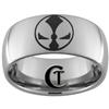 10mm Dome Tungsten Carbide Spawn Design Ring.
