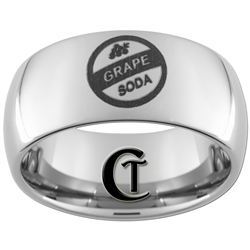 10mm Dome Tungsten Carbide Grape Soda Design