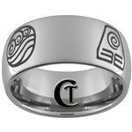 10mm Dome Tungsten Carbide Last Airbender Design