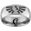 10mm Dome Tungsten Carbide Zelda Design