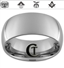 10mm Dome Tungsten Carbide Custom Masonic Design