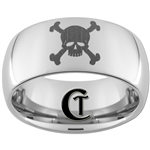 10mm Dome Tungsten Carbide Skull Design
