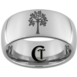 10mm Dome Tungsten Carbide Tree of Life Design