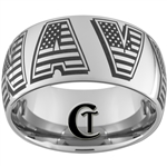 10mm Dome Tungsten Carbide NAVY Flag Lettering Design