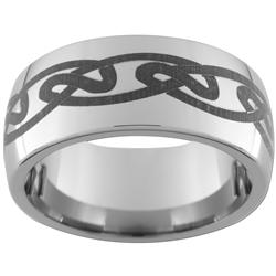 10mm Dome Tungsten Carbide Celtic Design