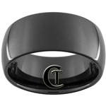 10mm Black Dome Tungsten Carbide Ring