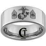 10mm Pipe Tungsten Carbide Marines Master Sergeant Design.
