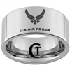 10mm Pipe Tungsten Carbide U.S. Air Force Logo Design.