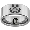 10mm Pipe Tungsten Carbide NAVY Anchor Ring Design.