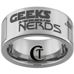 10mm Pipe Tungsten Carbide Custom Geeks Versus Nerds Design