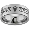 10mm Pipe Tungsten Carbide Zelda Goron Celtic Design