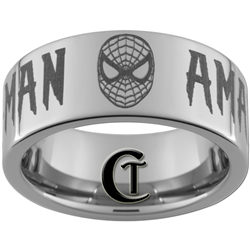10mm Pipe Tungsten Carbide Spiderman Design