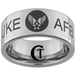 10mm Pipe Tungsten Carbide U.S. Air Force Air Force Base Design Ring.