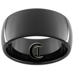 11mm Black Dome Tungsten Carbide Ring