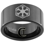 11mm Black Pipe Tungsten Carbide Star Wars Sith Design