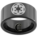 11mm Black Pipe Tungsten Carbide Star Wars Galactic Empire Design