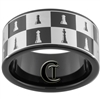 11mm Black Pipe Tungsten Carbide Chess Board Design