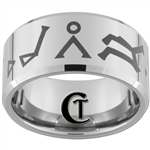 12mm Beveled Tungsten Carbide Stargate Atlantis Design