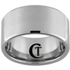 12mm Beveled Tungsten Carbide Stone Finish Ring