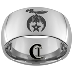 12mm Dome Tungsten Carbide Masonic Shriners Design