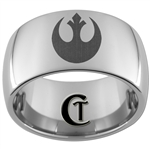 12mm Dome Tungsten Carbide Star Wars Rebel Design