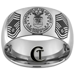 12mm Dome Tungsten Carbide Air Force Seal & Chief Master Sergeant Design.
