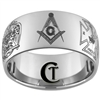 12mm Dome Tungsten Carbide Masonic Images Design