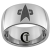 12mm Dome Tungsten Carbide Star Trek Design