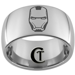 12mm Dome Tungsten Iron Man Ring