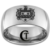 12mm Dome Tungsten Carbide Knights Crest Design