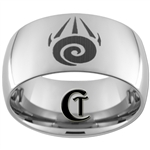 12mm Dome Tungsten Carbide Tribal Tattoo Design