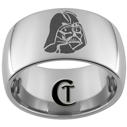 12mm Dome Tungsten Carbide Star Wars Darth Vader Design