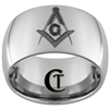 12mm Dome Tungsten Carbide Masonic Design