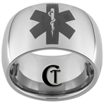 12mm Dome Tungsten Carbide Medical Alert Design