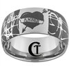 12mm Dome Tungsten Carbide Custom Lasered Ring Design