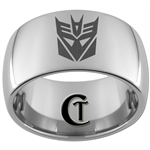 12mm Dome Tungsten Carbide Decepticon Design
