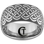 12mm Dome Tungsten Carbide Celtic Design