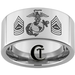 12mm Pipe Tungsten Carbide Marines Master Sergeant Design.