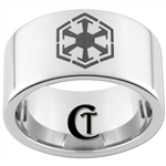 12mm Pipe Tungsten Carbide Star Wars Sith Design