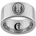 12mm Pipe Tungsten Carbide Star Wars Jedi Design